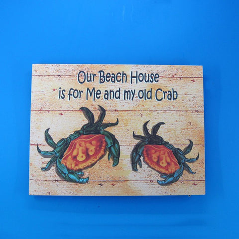"Handcrafted Model Ships Y-42197 Wooden My Old Crab Beach House Sign 16"" - Peazz.com"