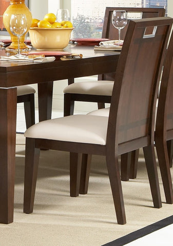 Homelegance 1330S Keller Side Chair in Leatherette - Set of 2 - Peazz.com