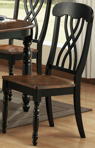 Homelegance 1393BKS Ohana Black Side Chair - Set of 2 - Peazz.com