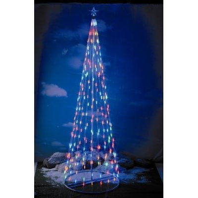 Homebrite 15 Ft Prelit Christmas Tree LED Outdoor - 61391 Multi-Color - Peazz.com