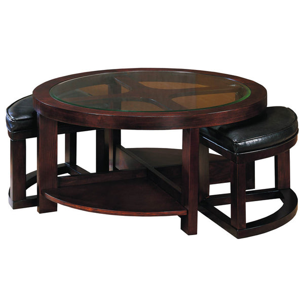 Homelegance Brussel 3219pu 01sh Round Cocktail Table Set