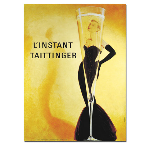 Trademark Commerce V7049-C1419GG L'Instant Taittinger-14x19 Gallery Wrapped Canvas - Peazz.com