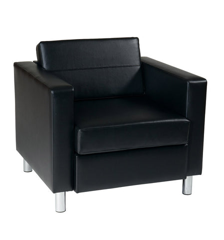 Office Star Ave Six PAC51-V18 Pacific Arm Chair in Black - Peazz.com