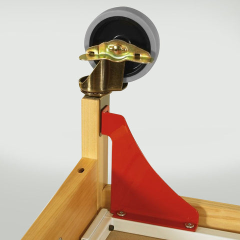 Foundations First Responder Evacuation Frame w/ Antique Brass Casters for Natural Cribs (fits SafetyCraft, Serenity & Biltmore Compact Cribs) - Red/Brass Casters - 1962077 - Peazz.com