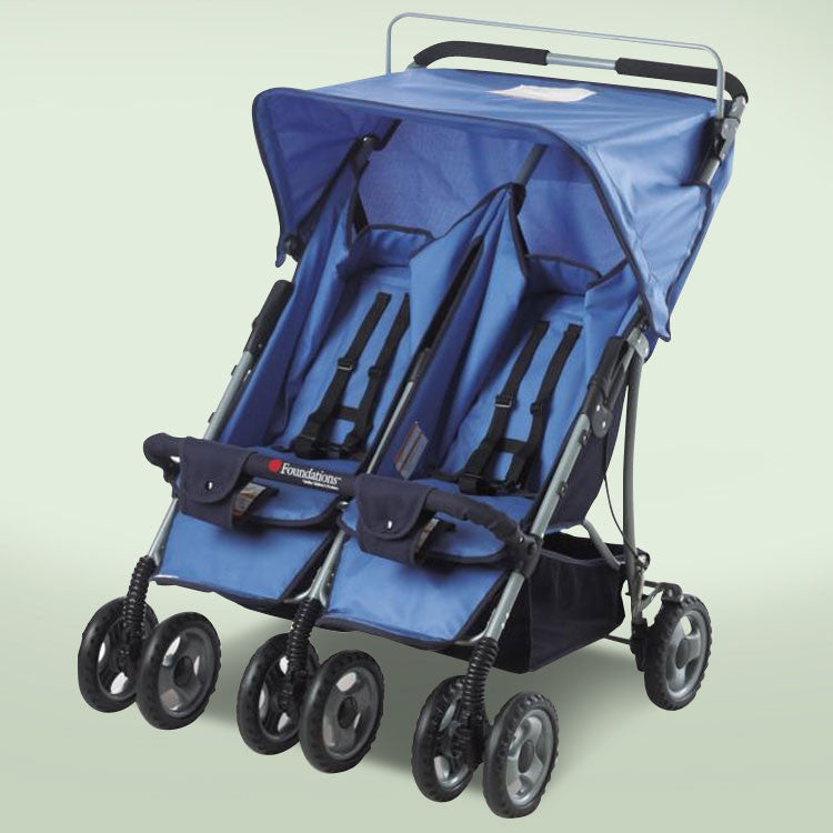 Foundations The Duo-ss™ Double Side By Side Stroller - Blue - 42-ss-bo