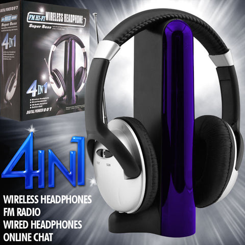 Trademark Commerce 72-36210 Digital 007 4-in-1 Wireless Headphones - Peazz.com