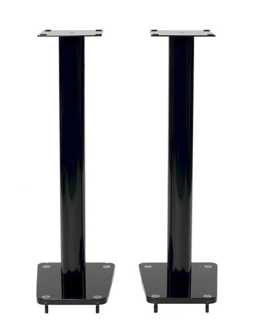 "TransDeco TD32BA 32"" Tempered Glass & Steel Speaker Stand - Peazz.com"