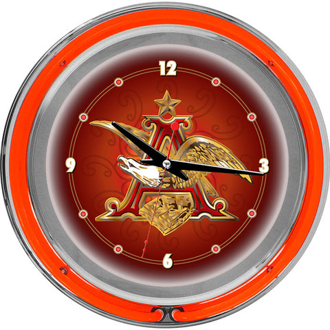 Trademark Commerce AB1400-AE Budweiser A & Eagle 14 Inch Neon Wall Clock - Peazz.com