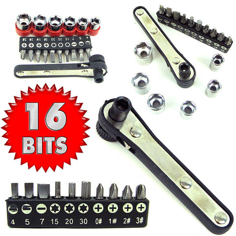 Trademark Tools 75-2580 Trademark Tools 17 Piece Deluxe Mini-Ratchet Screwdriver So - Peazz.com