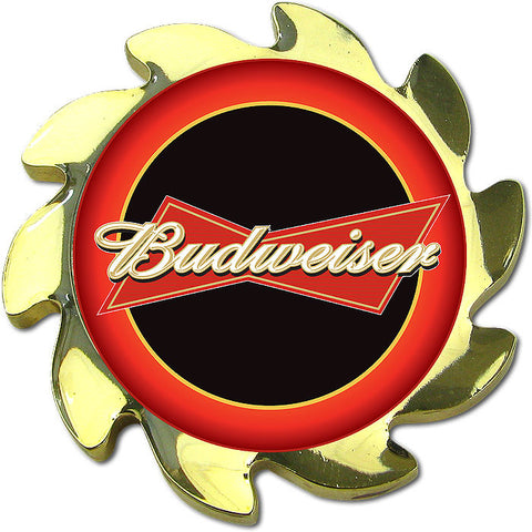 Trademark Poker Abspin-Bud-G Budweiser Spinner Card Cover - Gold - Peazz.com