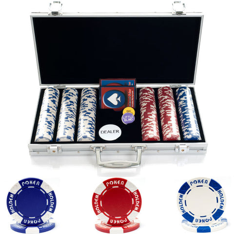 10-1055-3001S 300 11.5G Holdem Poker Chip Set W/Aluminum Case - Peazz.com