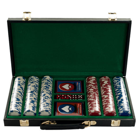 10-1055-300D 300 11.5G Holdem Poker Chip Set With Black Vinyl Case - Peazz.com