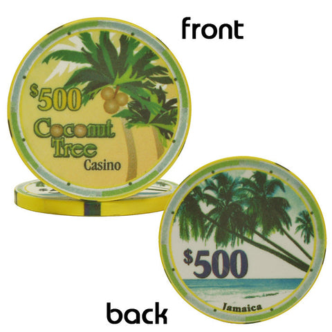 Trademark Poker 10-08000 10 G Ceramic Coconut Tree Chip - Peazz.com