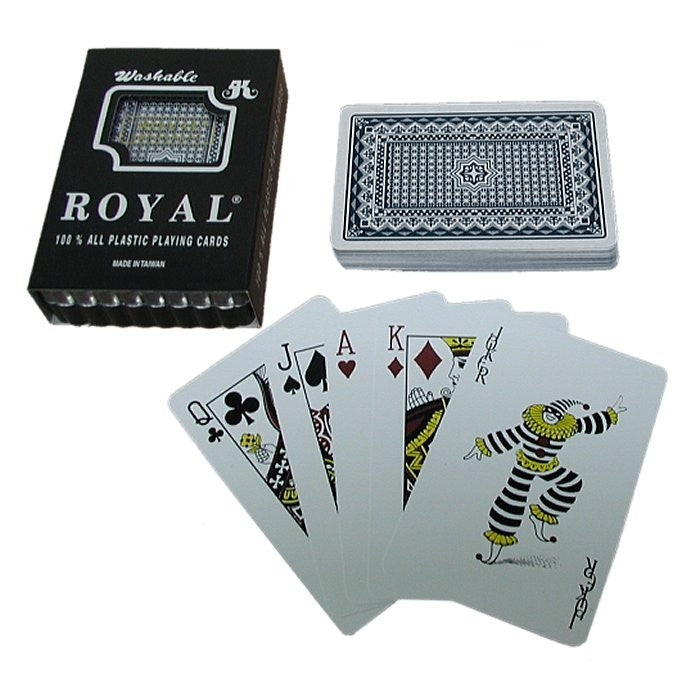 Trademark Poker 10-Plastic1B One Blue Deck- Royal Plastic Playing Cards W/Star Pattern