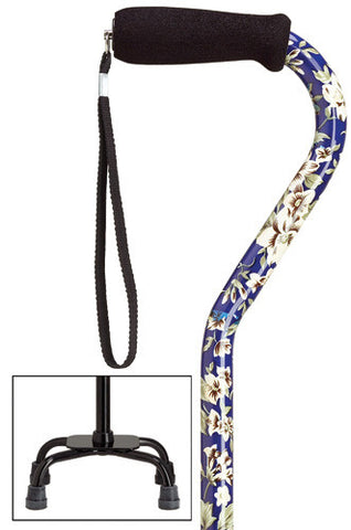 Harvy Fashion Quad-Cane Small - Adjustable Small Base Quad Cane - Peazz.com