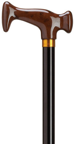 "Harvy Dark Maple ""J"" Dark Maple Cane (Adjustable 30"" - 39"") - Peazz.com"