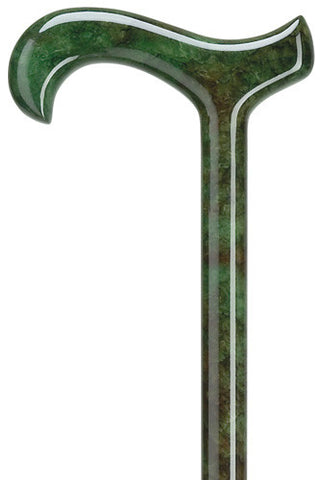 Harvy Men's Green Burlwood - Ultra Light Carbon Fiber Derby Cane - Peazz.com