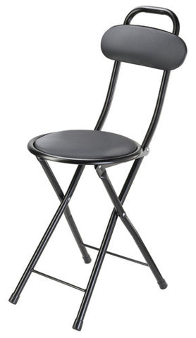 Harvy Black Enamel Seat Cane - 250lbs Weight Max. - Peazz.com
