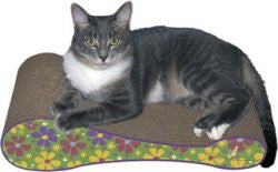 Imperial Cat Shape Scratch 'n Shapes Lazy Eight Scratcher - Peazz.com