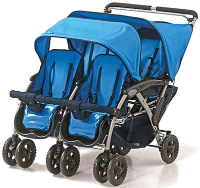 Foundations The Quad™ 4-passenger Stroller - Blue - 40-nm-b0