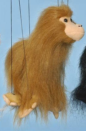 "16"" Brown Monkey Marionette Small - Peazz.com"
