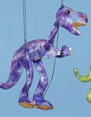 "16"" Dinosaur Marionette Purple/Small - Peazz.com"