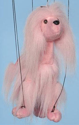 "16"" Pink Poodle Marionette Small - Peazz.com"