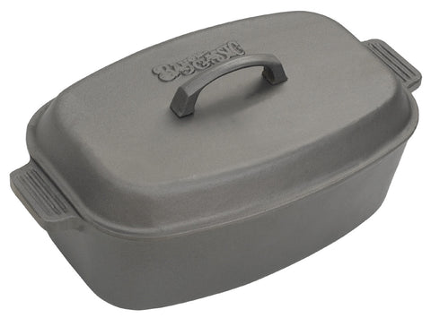 Bayou Classic 12 Quart Oval Cast Iron Roasting Pan With Lid - Peazz.com