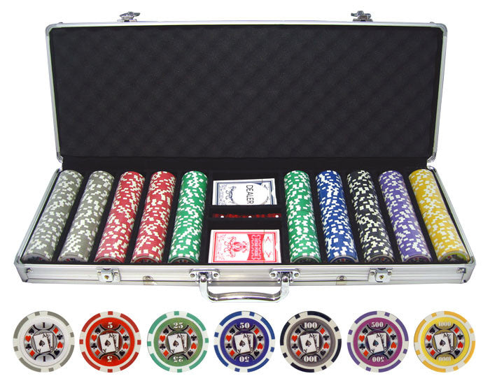 500pc Big Slick 11.5g Poker Chip Set