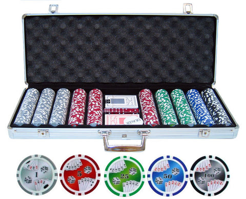 11.5g 500pc Double Royal Flush Poker Chip Set - Peazz.com
