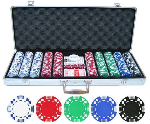 11.5g 500pc Double Suited Poker Chip Set - Peazz.com