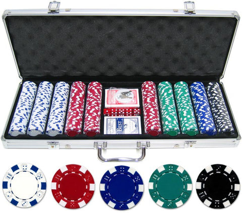 11.5g 500pc  Dice Poker Chip Set - Peazz.com