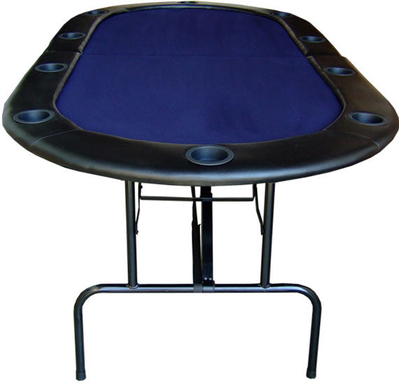 "84"" Foldable Texas Hold'em Poker Table w/ Legs - Blue"