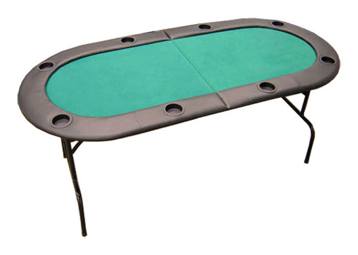 "73"" Foldable Texas Hold'em Poker Table w/ Legs - Green"