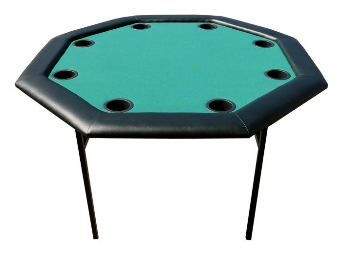 48 inch Octagon Poker Table w/ Folding Legs - Green