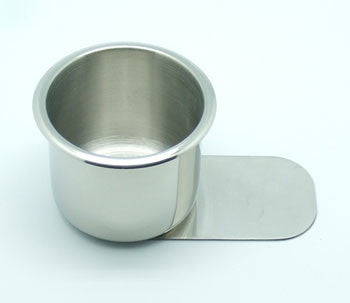 Slide under Stainless Steel Cup Holder - Small - Peazz.com