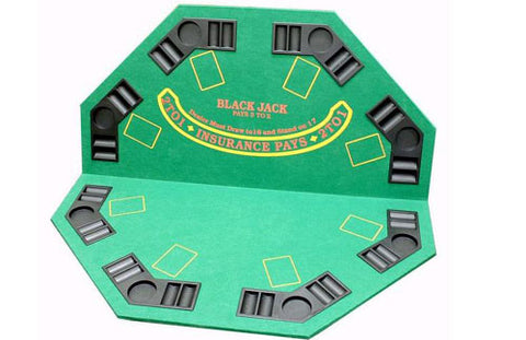 2-in-1 Poker/Blackjack Table Top - Peazz.com