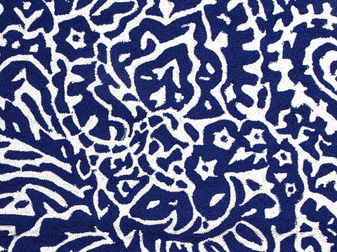 Jaipur Rugs RUG100201 Indoor-Outdoor Abstract Pattern Polypropylene Blue/Ivory Area Rug ( 2x3 ) - Peazz.com