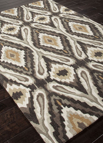 Jaipur Rugs RUG100815 Hand-Tufted Tribal Pattern Polyester Brown/Ivory Area Rug ( 2x3 ) - Peazz.com - 1