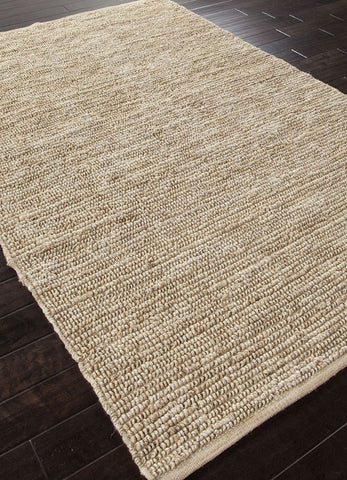 Jaipur Rugs RUG101193 Naturals Solid Pattern Jute Ivory/White Area Rug ( 2x3 ) - Peazz.com - 1