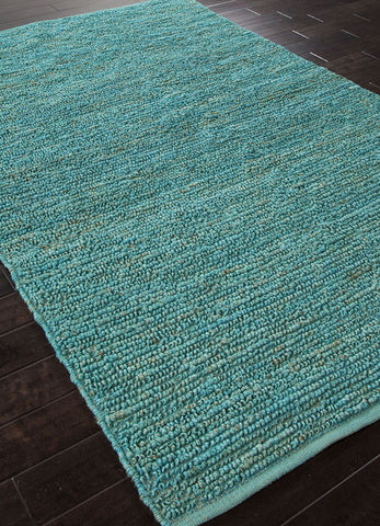 Jaipur Rugs RUG101197 Naturals Solid Pattern Jute Blue/ Area Rug ( 2x3 ) - Peazz.com - 1