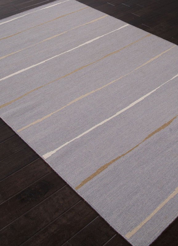 Jaipur Rugs Rug112241 Flat Weave Durable Wool Gray Ivory