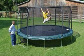 Bazoongi  JP1566C2 Jumppod Advanced 15' Trampoline And Enclosure - Peazz.com