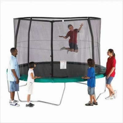Bazoongi  OR1213B6C2 Orbounder 12' Trampoline And Enclosure Combo (Box 1) - Peazz.com
