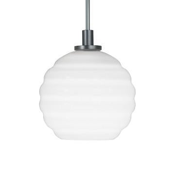 Jesco Lighting QAP753-WH/SN Quick adapt low voltage pendants-Beehave Large-Hand-blown - Peazz.com