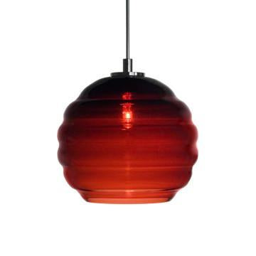 Jesco Lighting QAP753-WN/SN Quick adapt low voltage pendants-Beehave Large-Hand-blown - Peazz.com