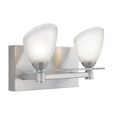 Jesco Lighting WS304-2 The elegant SLANTUS family includes a 2- and 4-light Pendant, and a 1- and 2-light Wall Sconce - Peazz.com