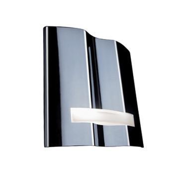 Jesco Lighting WS614 The MONA wall sconce is a ridged form, complimented with a frosted glass appliqué - Peazz.com