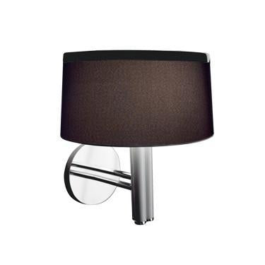 Jesco Lighting WS618B LEILA is a timeless classic suite featuring a beautiful black or white shade accented with a two-tone chrome and satin chrome finishes - Peazz.com