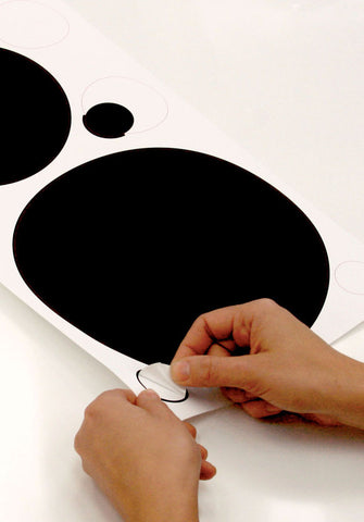 Black and White Chalkboard Dots Peel & Stick Wall Decals (RMK1311SCS) - Peazz.com